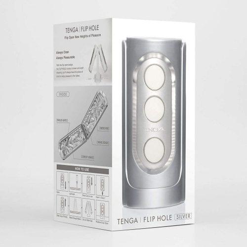 Tenga Flip Hole maszturbátor (ezüst)