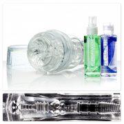 Fleshlight ICE GO Pack kompakt művagina, kiegészítőkkel (torque betéttel)